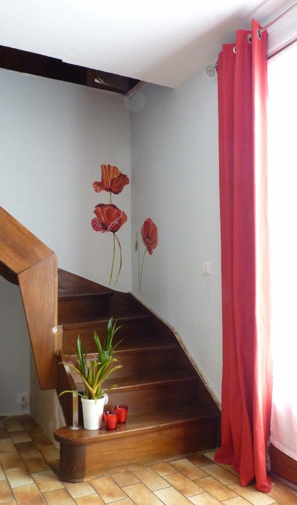 coquelicots P1080413 escalier