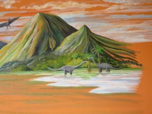 Dinosaure peinture diplodocus