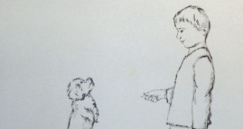 Dessin enfant et chien